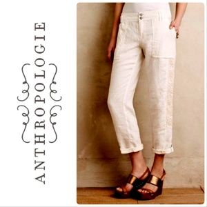 Anthro Hei Hei | NWOT Marlena linen crop trousers
